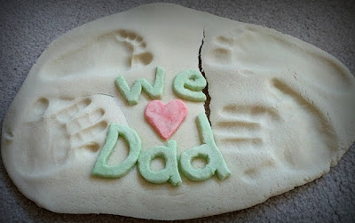 Salt dough print craft for Father's Day from And Next Comes L