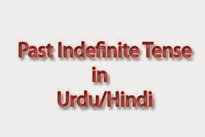 past indefinite tense in urdu