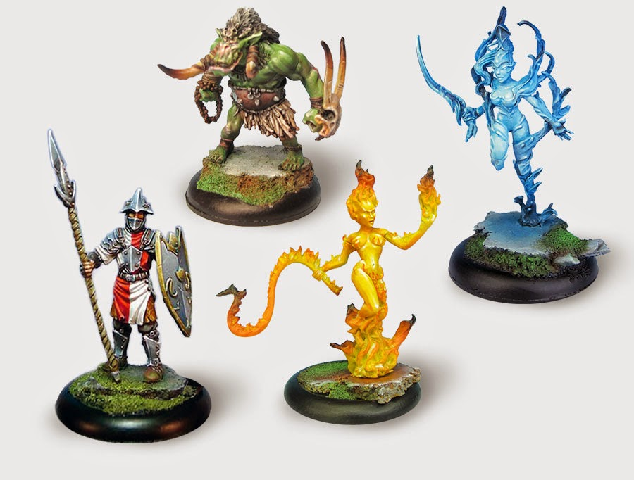 Drakerys 32mm Skirmish Game interview elementals miniatures