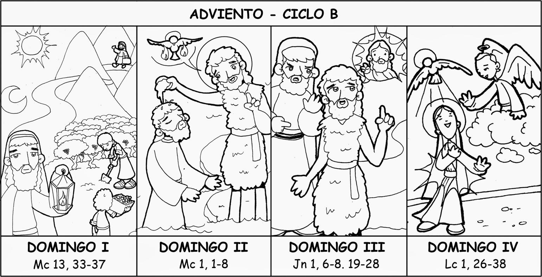RECURSOS PARA CATEQUESIS: Dibujos Adviento-Ciclo B