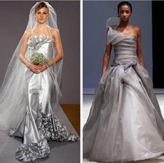 Silver Dress on Modern Silver Wedding Dresses Design Ideas