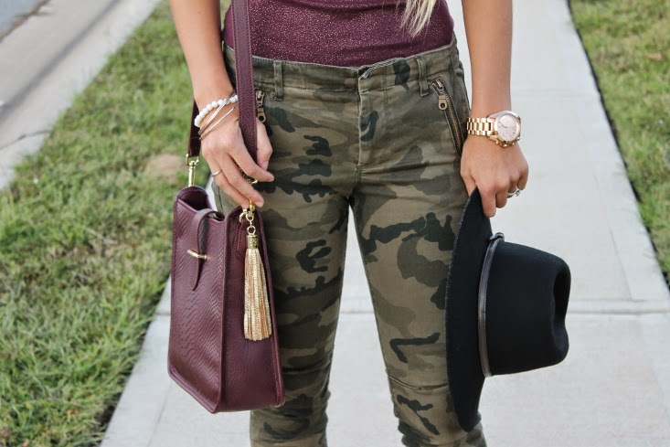 Oxblood and Camo combo