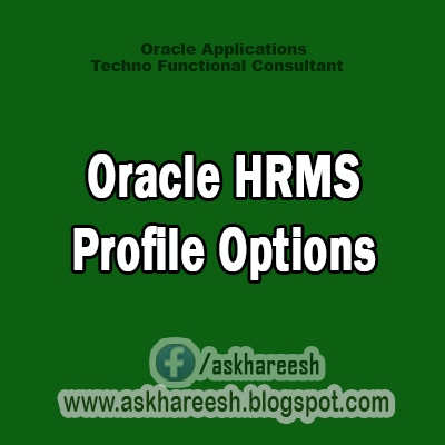 Oracle HRMS Profile Options