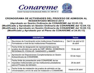 Resultados ingresantes exámen extraordinario RESIDENTADO MEDICO 2014, 12 de Octubre