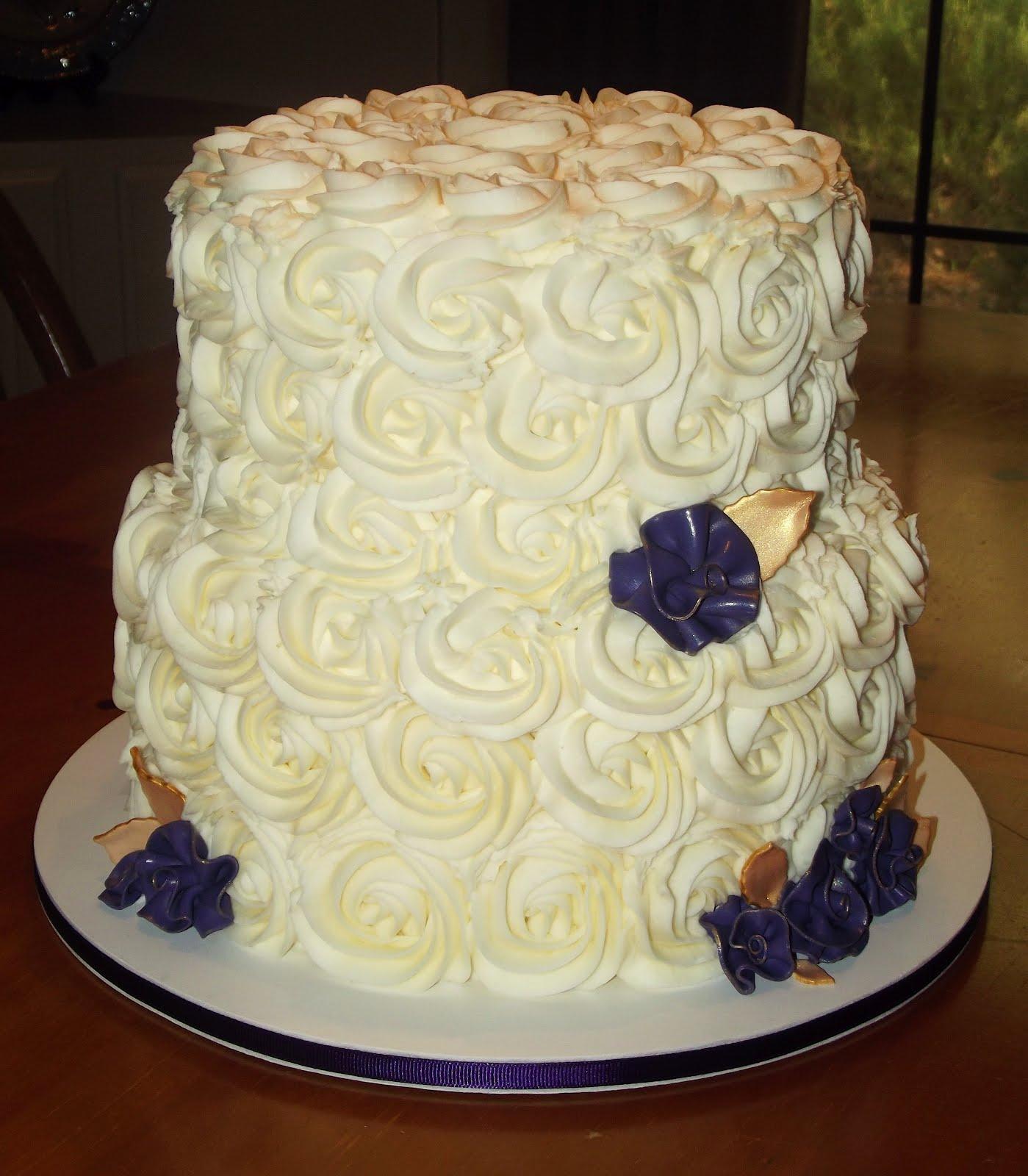 Suzy\'s Sweet Shoppe: Rose Swirl Bridal Shower Cake