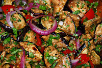 Grilled Eggplant Salad with Chickpeas Recipe | Healthy Eggplant Recipe