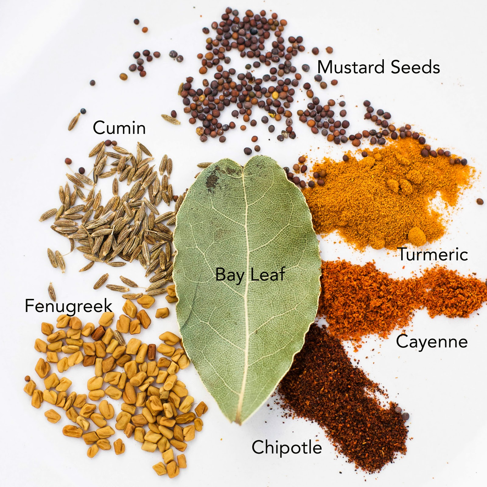 bay leaf, cumin, fenugreek, mustard seed, turmeric, cayenne, Indian, dal, lentil, coconut