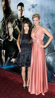 Elodie Yung and Adrianne Palicki attend the UK premiere of 'G.I. Joe: Retaliation' at The Empire Leicester Square on March 18, 2013 in London, England.  (Photo by Gareth Cattermole/Getty Images)