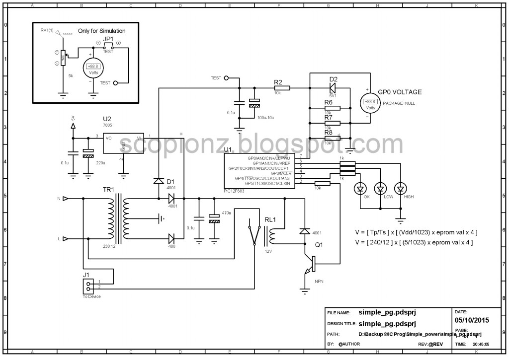 simple power guard circuit - 12f683