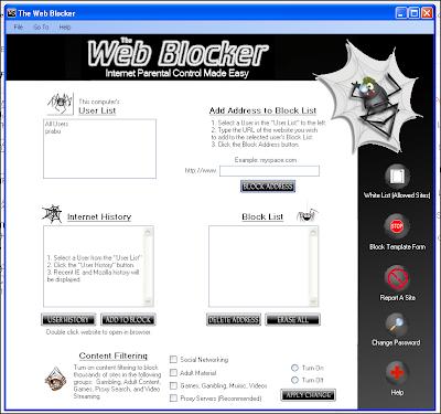 The Web Blocker - குறிப்பிட்ட தளங்களை Block செய்ய உதவும் இலவச மென்பொருள் The+Web+Blocker