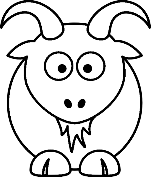 Farm Animal Clip Art Black and White