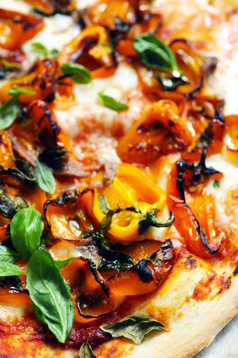 Le vendredi c'est retour vers le futur… Pizza presto très très poivrons parce que demain c'est… l'été !!!