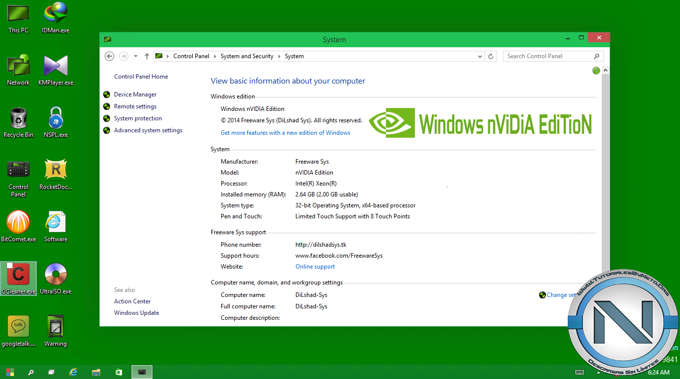 2ucul2h Windows 10 nVIDIA Edition 2014 [ISO Dvd5] [x32] [MG UL 1F]