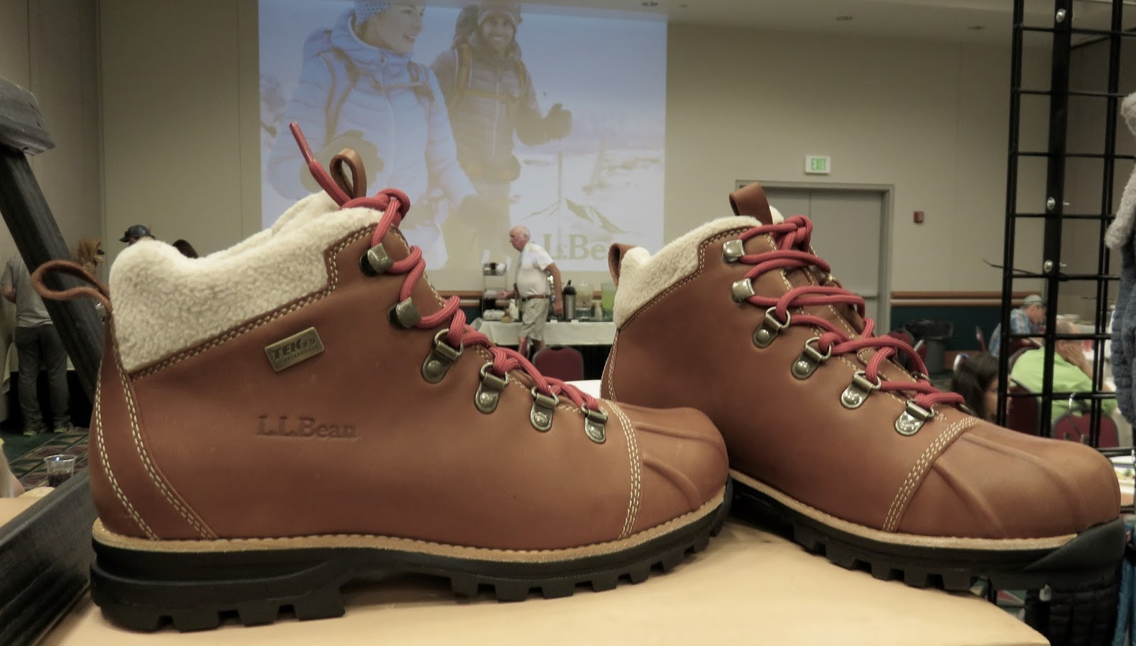 d2bd235ce LL Bean new Knife Edge Hiking Boots-women s Oakwood color- pictured  179  sport a classic line design