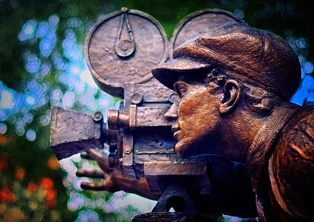 movie maker sculpture