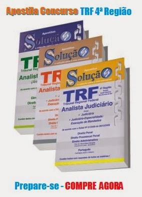 Apostila para Concurso TRF4 Técnico Judiciário RS/SC/PR Edital 2014