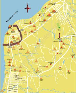 Bagan Temple Map