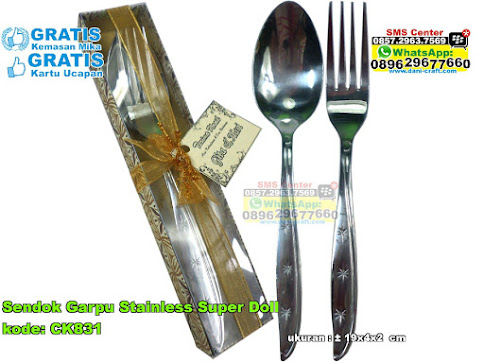 Sendok Garpu Stainless Super Doll