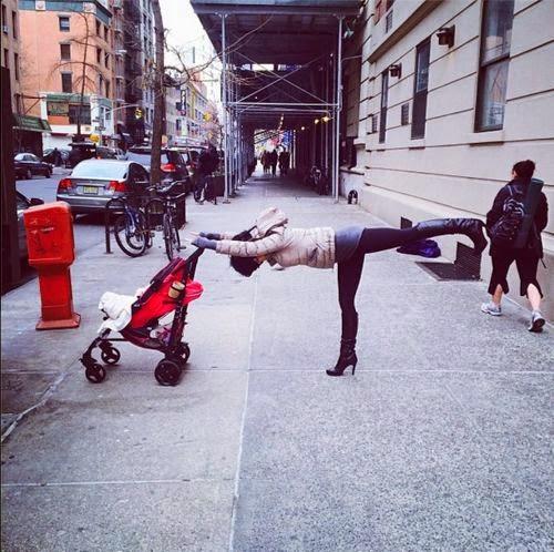 Hilaria Baldwin, Instagram, images, flexible woman
