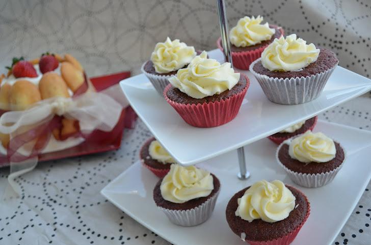 Cupcakes Red Velvet con Buttercream de vainilla