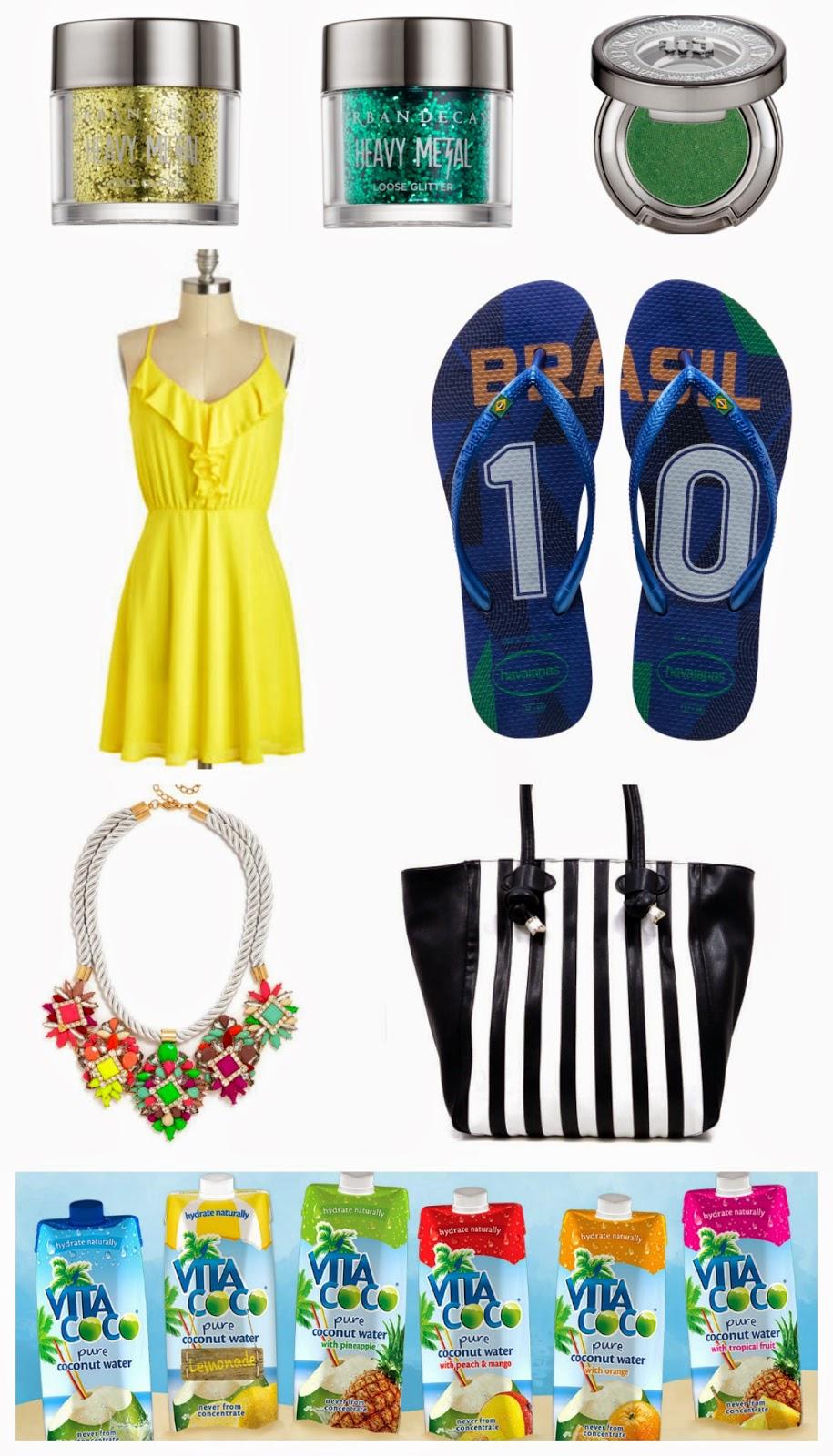 team brazil, world cup, fifa, havaianas, urban decay, vita coco, cid style file, style