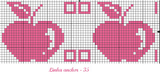 apple cross stitch chart