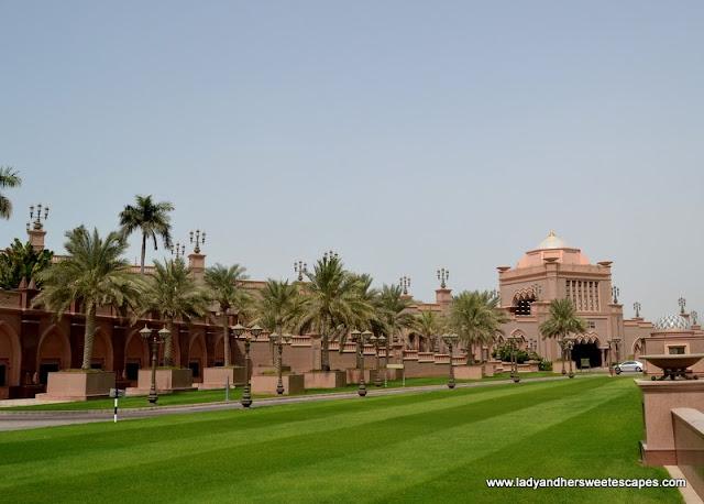 Abu Dhabi Emirates Palace's lush landscape