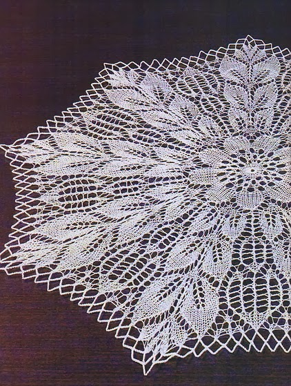 Knitted Tablecloth Patterns : Art: knitted tablecloth