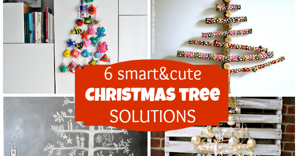 6 smart Christmas tree ideas - for small spaces - AppleGreen Cottage