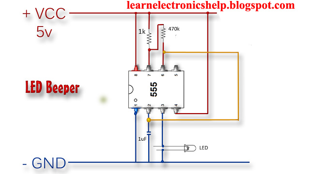 How To Make Led Lights Blink Learn Basic Electronics Circuit