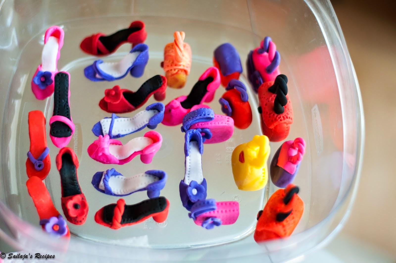 sailaja s recipes cupcakes with high heel shoe and purse