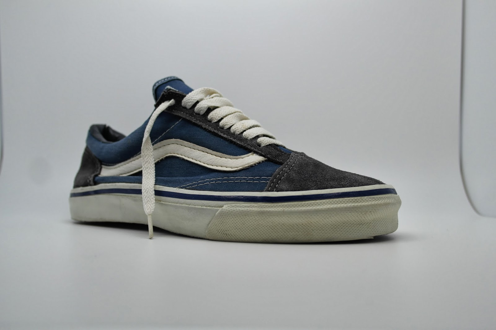 theothersideofthepillow vintage vans style 36 old skool navy suede canvas made in usa 90s. Black Bedroom Furniture Sets. Home Design Ideas