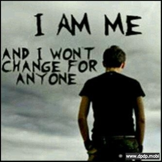 Gambar Tampilan di Bbm Blackberry_i am me and i wont change for anyone