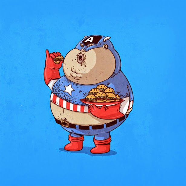 Capitán América con sobrepeso
