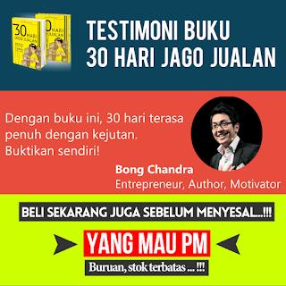 Buku 30 HARI JAGO JUALAN dari Dewa Eka Prayoga Bong Candra