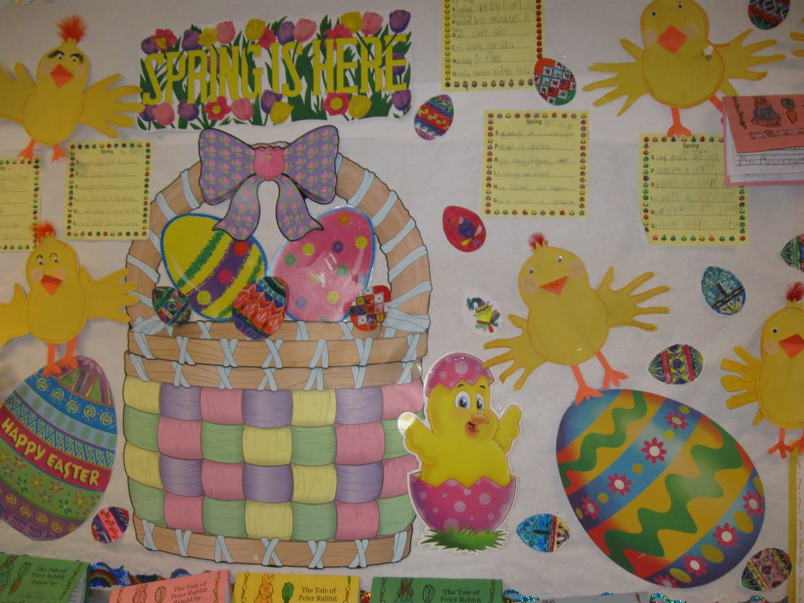 Classroom Ideas For Easter ~ Patties classroom rechenka s eggs spring bulletin board
