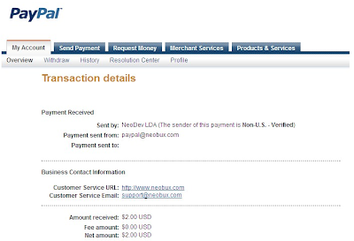 Neobux payment to PayPal