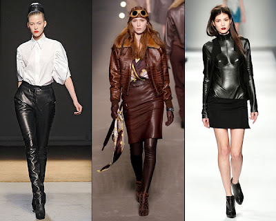 Leather Fashion Trends For Women 2011