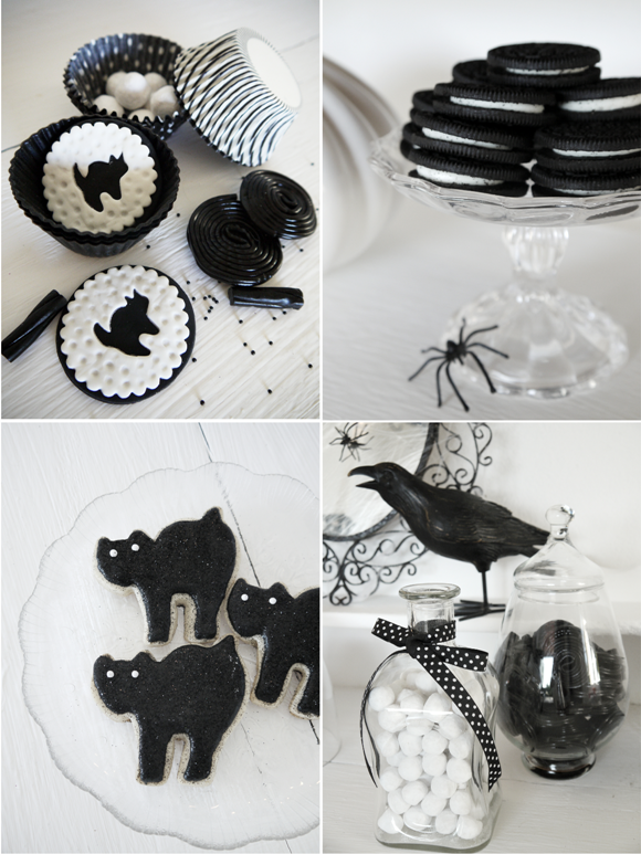 Black And White Decoration Ideas black and white halloween decorating ideas | party ideas | party