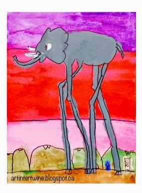 Art Intertwine - Salvador Dali Elephants