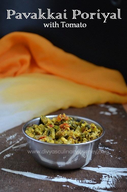 pavakkai poriyal with tomato recipe | bitter gourd stir-fry with tomato