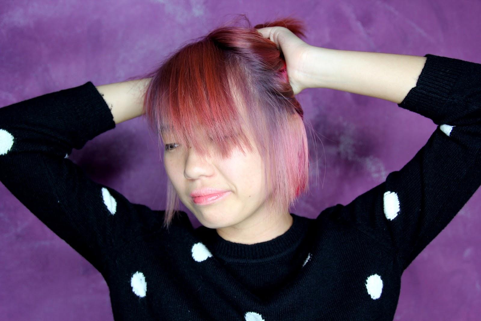 Red Violet Lowlights | Dark Brown Hairs