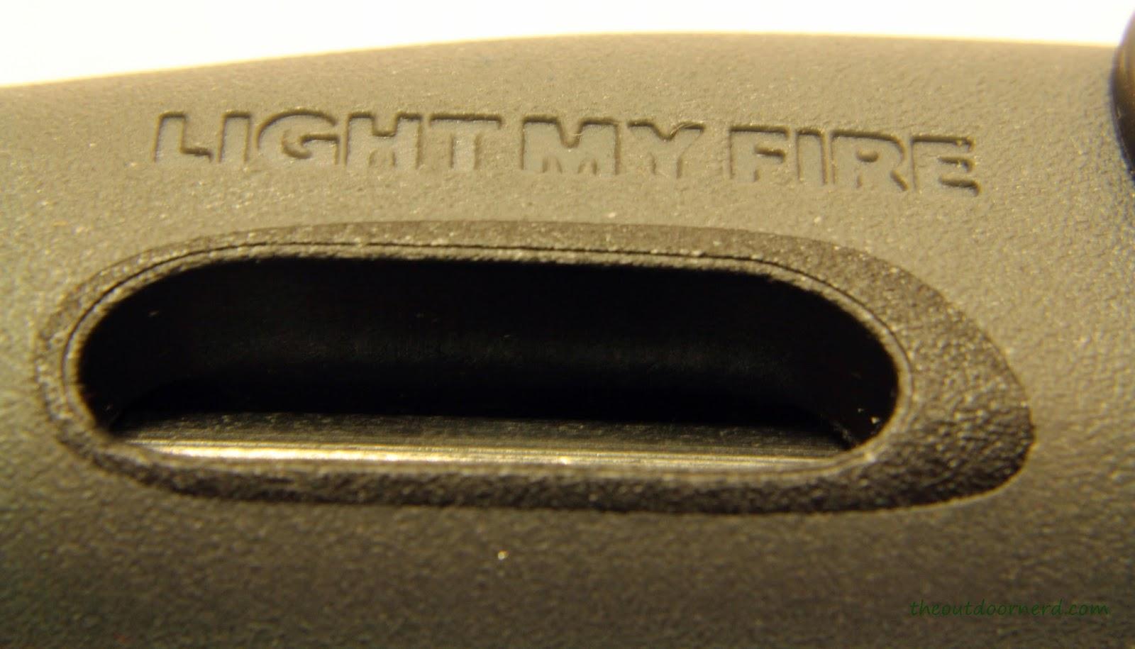 Light My Fire Swedish FireKnife: Closeup Of FireSteel Cutaway