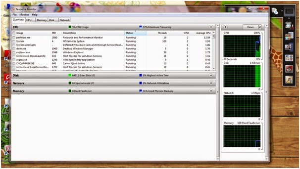 Cara Menggunakan Resource Monitor di Windows 7 & 8
