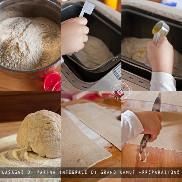 lasagne di farina integrale di grano kamut senza uova