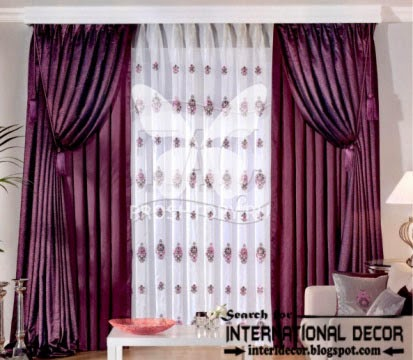 largest catalog of purple curtains and drapes 2015, modern dark purple curtains styles