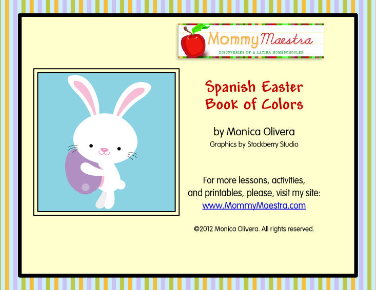 Mommy Maestra: Easter Coloring Book in Spanish {PRINTABLE}