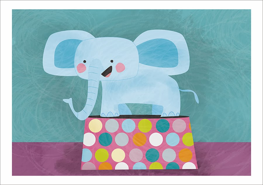 lamina para niños elefante en el circo