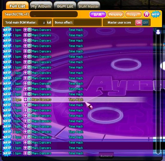 Cheat Audition Ayodance Hack v.6098 Terbaru By Mars Celebrity , Saya