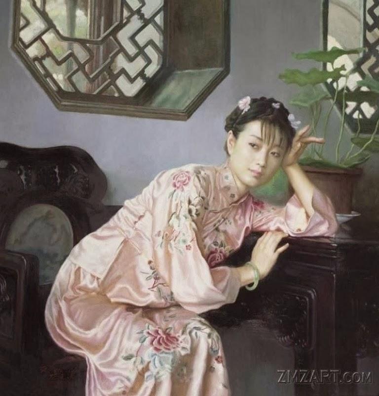 mujeres-chinas-cuadros